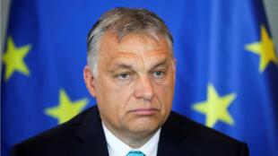 Le Premier ministre hongrois Viktor Orban au Parlement allemand, le 4 juillet 2018.