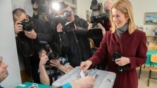Kaja Kallas, à la tête du parti libéral la Réforme, le 3 mars 2019.