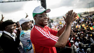 Maurice Kamto, leader du MRC, à Yaoundé, le 30 septembre 2018.