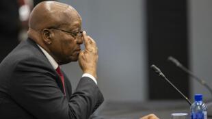 L'ancien président sud-africain Jacob Zuma en comparution lundi 15 juillet devant la commission d'enquête sur la corruption.