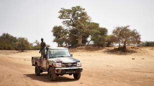 File photo taken Feb. 28, 2020 of Malian soldiers on patrol on the banks of the River Djenne in central Mali.