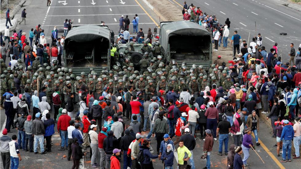 Enérgica condena del FMLN a represión policial en Ecuador