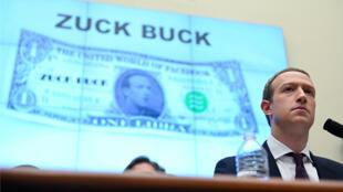 """Le PDG de Facebook, Mark Zuckerberg, lors d'une audience au Congrès américain pour présenter la """"Libra"""", le 23 octobre 2019."""