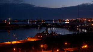 Esta es la Base Naval Argentina en Mar del Plata, donde debía haber llegado el submarino ARA San Juan, que desapareció la madrugada del 15 de noviembre en las aguas del Atlántico.