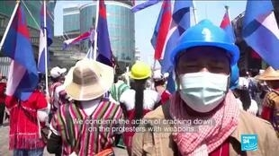 2021-02-24 13:05 Myanmar protests: Multi-ethnic rally taking place in Yangon