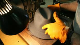 Un chapeau Borsalino présenté à Alexandrie en 2007 à l'occasion du 150e anniversaire de la marque.