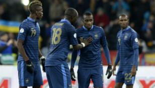 Les Français Paul Pogba, Blaise Matuidi et Moussa Sissoko