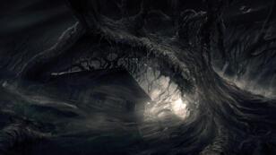 """Artwork de """"Darkwood"""" publié par ses développeurs."""