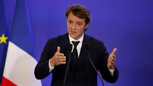 François Baroin, mercredi 10 mai 2017, au siège du parti Les Républicains.