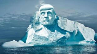 Image de synthèse qui montre la sculpture que l'ONG finlandaise Melting Ice veut réaliser dans l'Arctique.