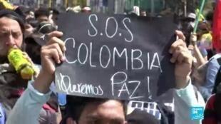 2021-05-13 01:04 Miles de colombianos se manifiestan a lo largo del país este 12 de mayo