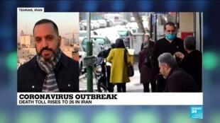 2020-02-27 15:04 Coronavirus outbreak: Death toll rises to 26 in Iran