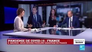 2020-03-31 13:24 Coronavirus - À Kolmi-Hopen, Macron annonce sa stratégie face aux pénuries en équipements médicaux