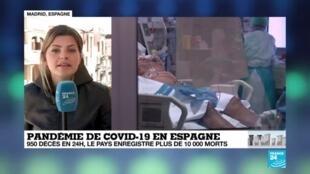 2020-04-02 13:01 Coronavirus : 950 décès en 24 heures, l'Espagne enregistre plus de 10 000 morts