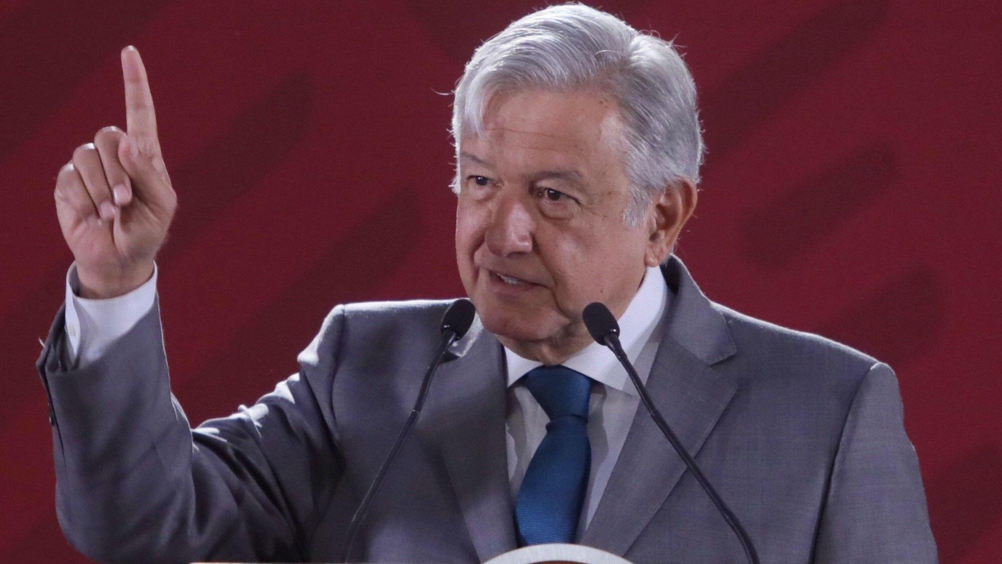 El presidente de México, Andrés Manuel López Obrador, en conferencia en el Palacio Nacional, en Ciudad de México, México, el 28 de enero de 2019.