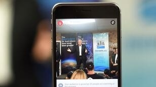 Le Premier ministre australien Malcolm Turnbull en direct sur Facebook Live.