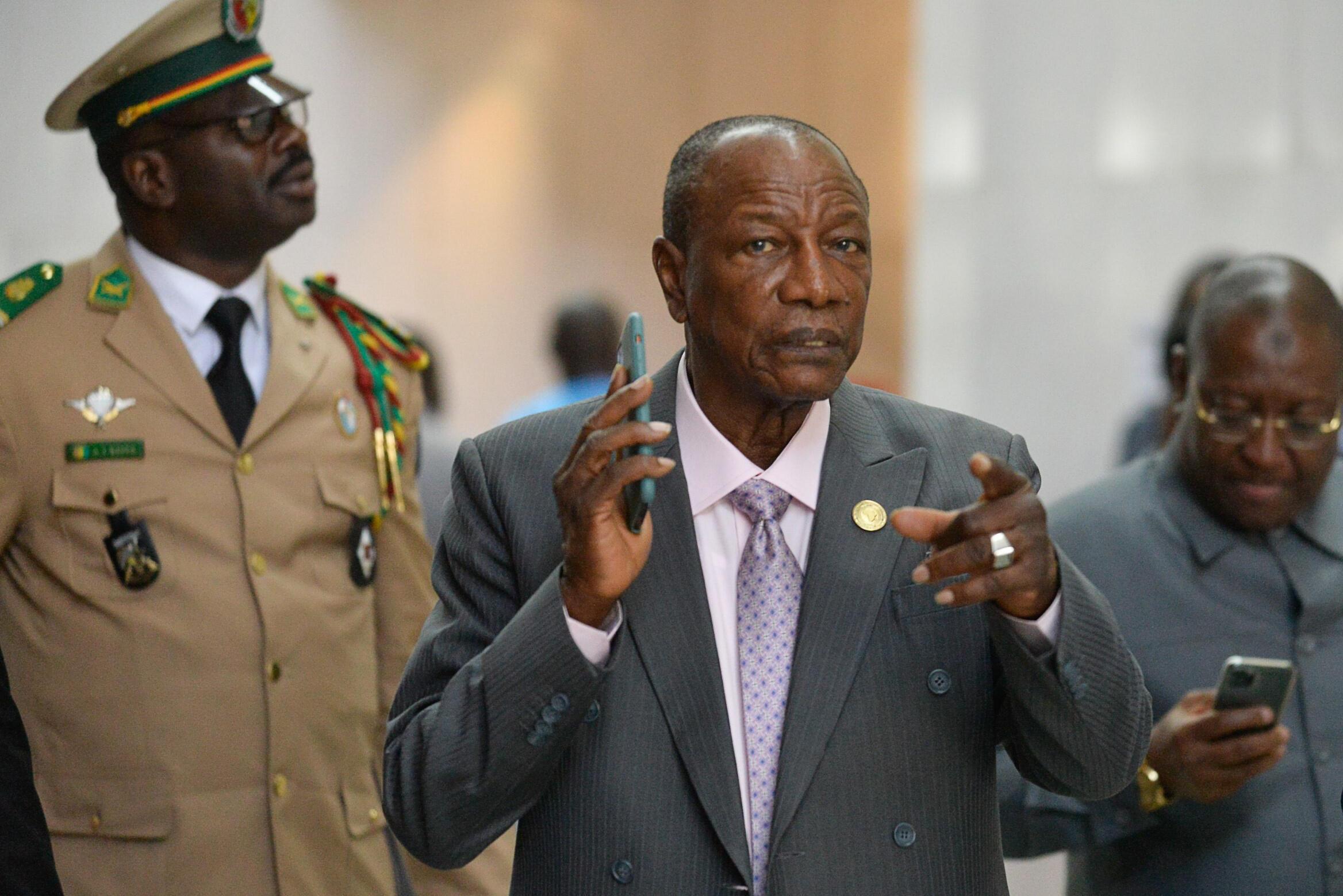 A file photo of Guinea's president Alpha Conde.