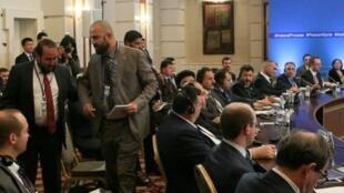 جانب من الجولة الرابعة من محادثات أستانة حول سوريا في 4 أيار/مايو.