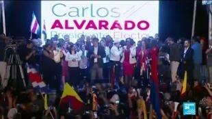 Carlos Alvarado, del partido Acción Ciudadana, será el sucesor de Luis Guillermo Solís.