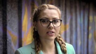Una imagen de la periodista Viktoria Marinova en un lugar sin precisar de Bulgaria, divulgada el pasado 7 de octubre por la televisión TVN