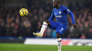 N'Golo Kanté avec Chelsea, lors du derby londonien contre Arsenal à Stamford Bridge, le 21 janvier 2020