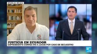 El expresidente ecuatoriano ha denunciado irregularidades en la administración de justicia en su país.