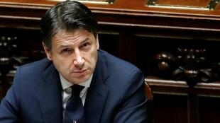Italian Prime Minister Giuseppe Conte attends a session of the lower house of parliament on the coronavirus disease in Rome, Italy, April 21, 2020.