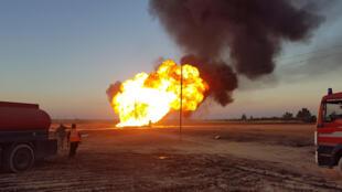 Explosion d'un gazoduc en Syrie