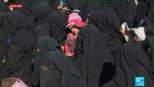 Dans l'est de la Syrie, avec les populations qui fuient les combats entre le groupe État islamique et les milices kurdes.