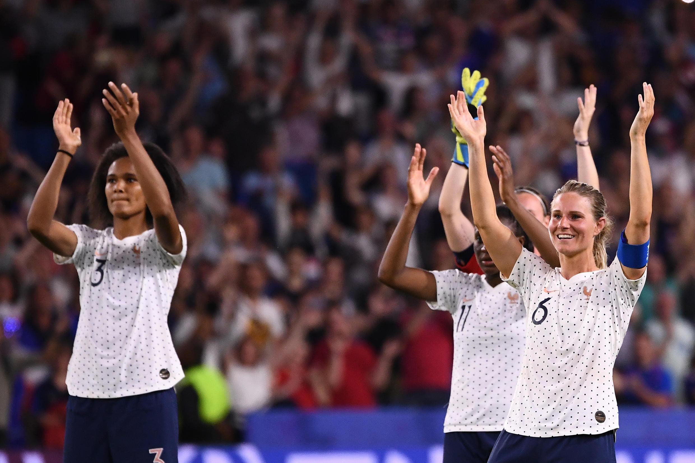L'équipe de France féminine lors du Mondial-2019 organisé en France.