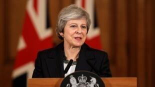 رئيسة الوزراء البريطانية تيريزا ماي. 15 نوفمبر/تشرين الثاني 2018