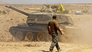 Un combattant du Hezbollah dans la région du Qalamoun, en Syrie, le 28 août.