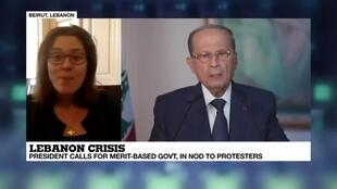 2019-11-01 08:02 FRANCE 24's Leila Molana-Allen says President Aoun's address was met with disdain by demonstrators