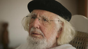 Poet and former Sandinista priest Ernesto Cardenal pictured at his home in Managua on August 29, 2008.