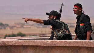 Des combattants du YPG dans la province d'Hassaké, le 28 octobre 2015, en Syrie.