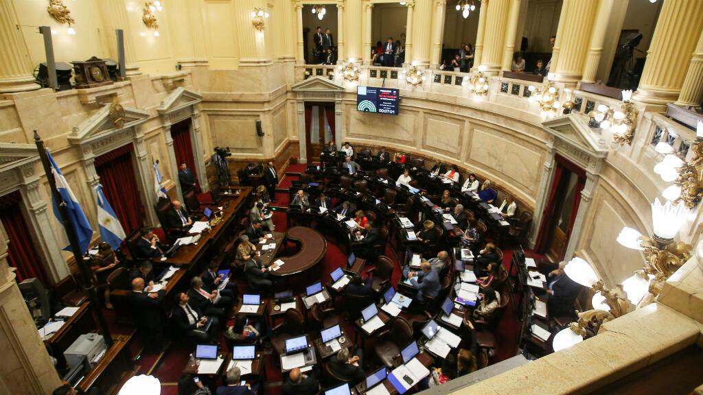Una mirada al Senado de Argentina antes de que iniciara el debate sobre el presupuesto general para 2019. 14 de noviembre de 2018.