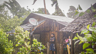 Typhoon Vongfong has dumped heavy rains since roaring ashore