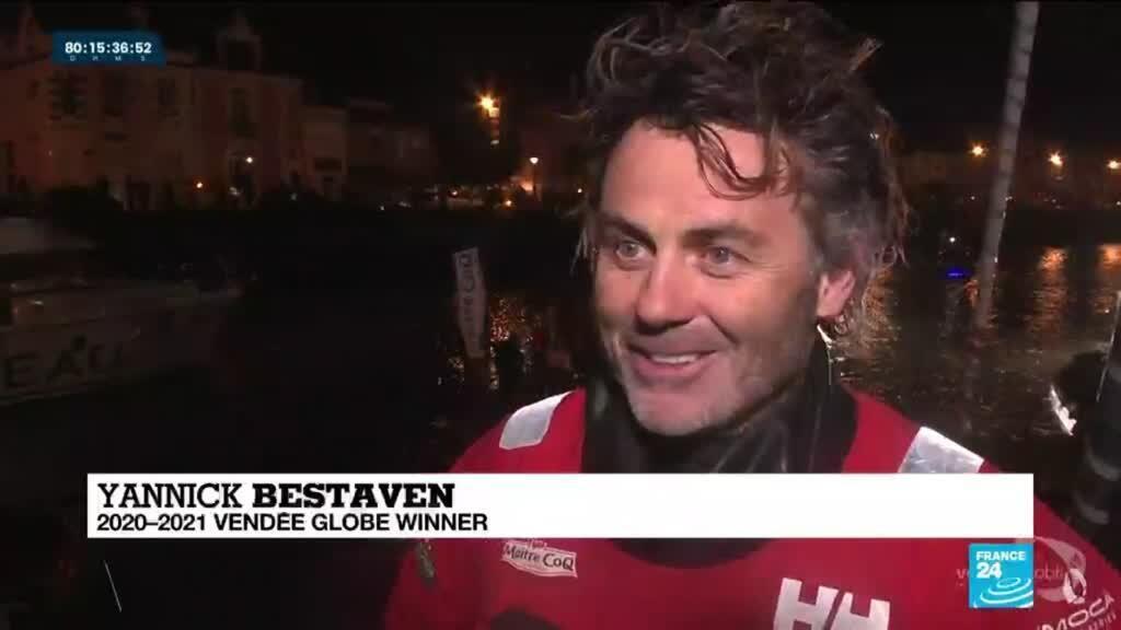2021-01-28 08:01 Sailing-Frenchman Bestaven wins Vendee Globe race after time bonus