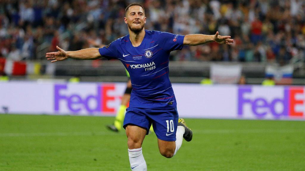 El volante belga Eden Hazard, que anunció su inminente retiro del Chelsea, conquistó el título de la UEFA Europa League con su equipo que goléo 4-1 al Arsenal en el estadio Olímpico de Bakú, Azerbaiyán, el 29 de mayo de 2019.