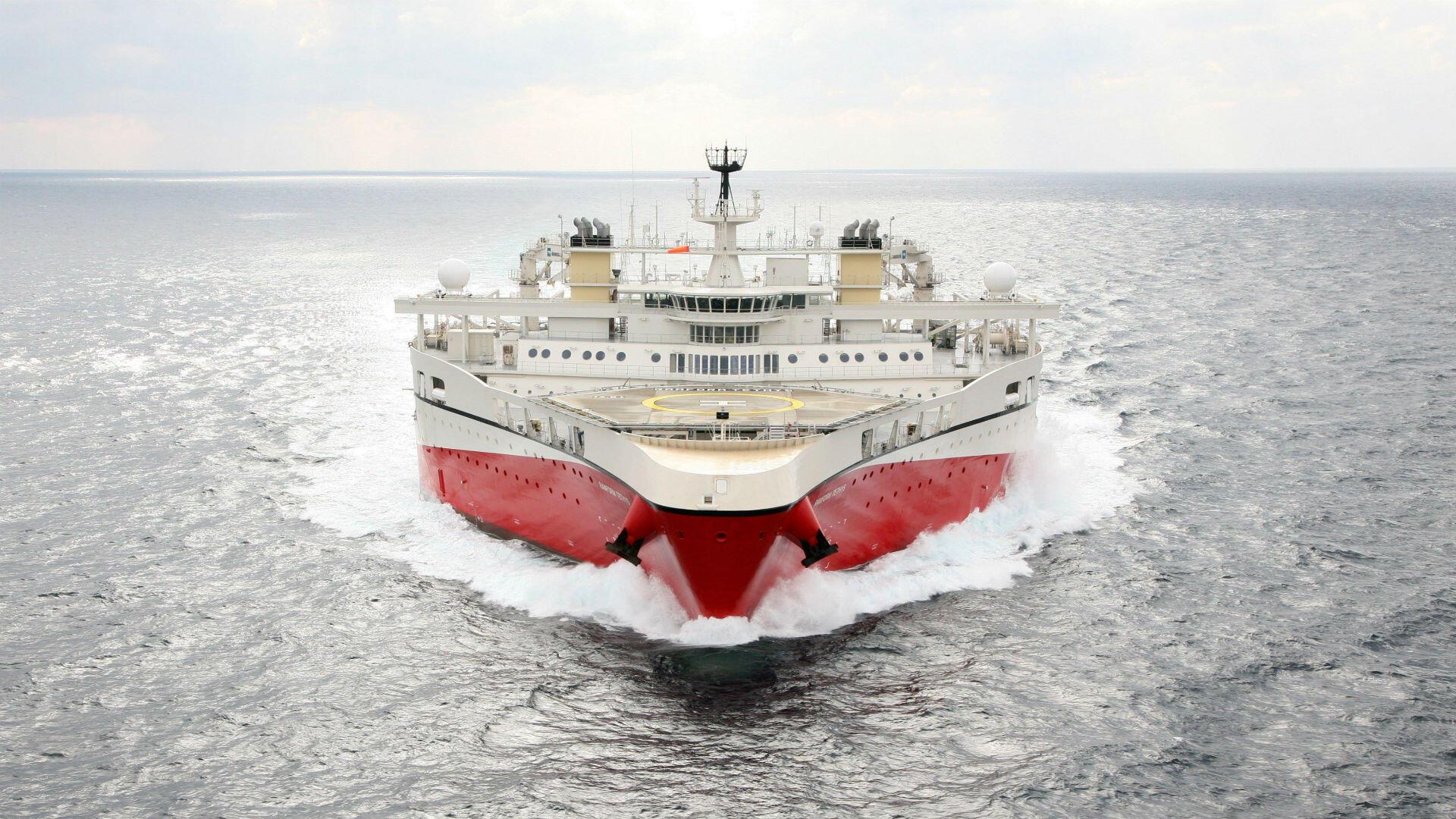 Imagen del buque Ramform Tethys distribuida por Petroleum Geo-Services el 23 de diciembre de 2018 en referencia a la interceptación de la nave contratada por la compañía petrolera ExxonMobil por parte de la marina venezolana el 22 de diciembre del mismo año.