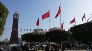 شارع الحبيب بورقيبة في العاصمة تونس