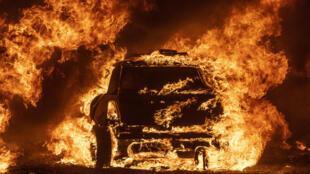 حريق في فاكافيل بولاية كاليفورنيا في 19 آب/أغسطس 2020.