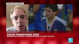 2020-11-25 18:21 Diego Maradona dies: Argentina announces three days of national mourning