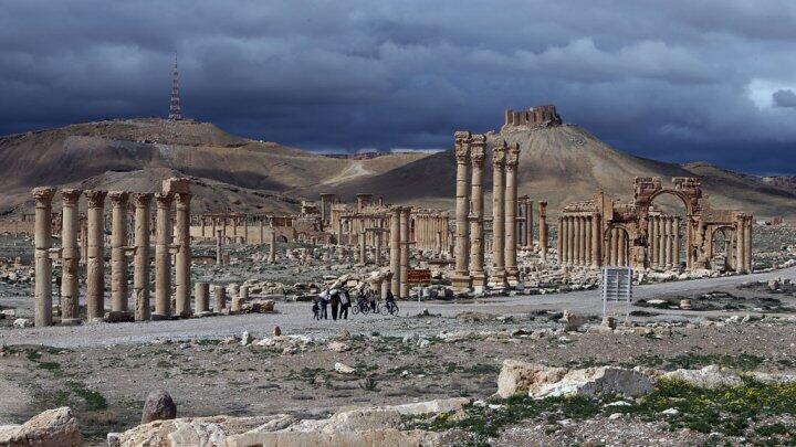 مدينة تدمر الأثرية وسط سوريا