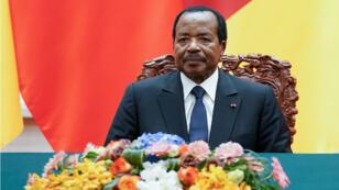 Imagen de archivo, el presidente de Camerún, Paul Biya, asiste a una ceremonia en Beijing, China, 22 de marzo de 2018.