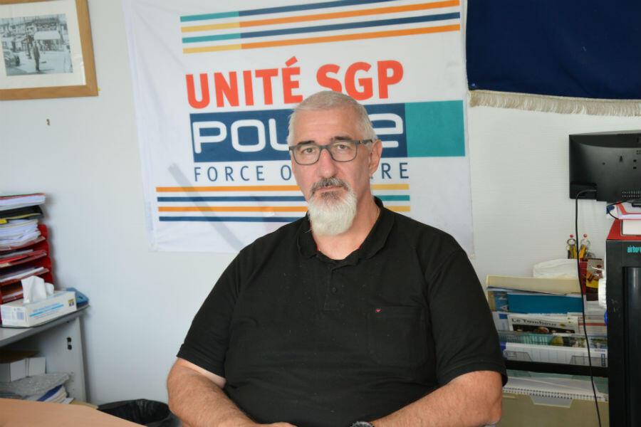 """""""Les policiers ne sont absolument pas préparés à gérer ce genre de situation de risque Seveso"""", déplore Frédéric Desgerre, secrétaire régional (Normandie) Unité SGPPolice."""