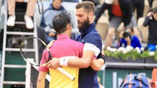 Benoît Paire a fini par craquer face à Kei Nishikori.