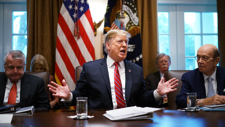 Le président américain Donald Trump à la Maison Blanche, le 12 février 2019.