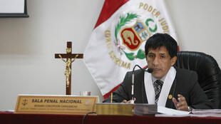 El juez Richard Concepción Carhuancho en una audiencia en la Sala Penal Nacional de Perú.