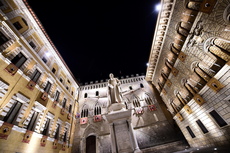 Le siège de la banque Monte Dei Paschi, symbole de la crise du secteur bancaire italien